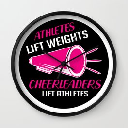 Cheerleader Lift Athletes Cheerleader And Athletic Gift Wall Clock