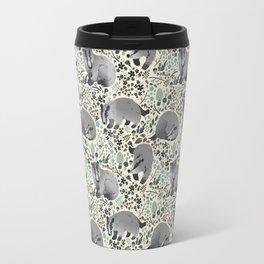 Badger pattern Travel Mug