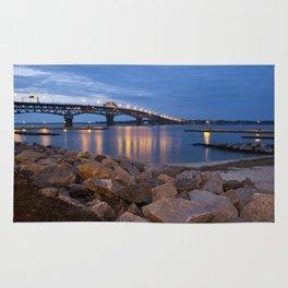 Twilight at Yorktown Beach Rug