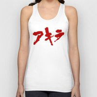 grafitti Tank Tops featuring Akira Grafitti by InvaderDig