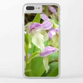 Showy Orchis Clear iPhone Case