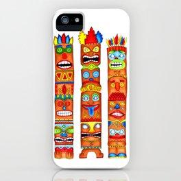 Tiki Totem Poles - Original iPhone Case