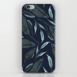 Leafy Vibes (Navy) iPhone Skin