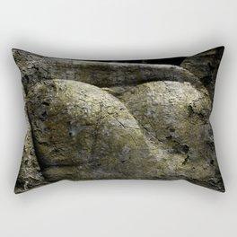 Hard as stone Rectangular Pillow