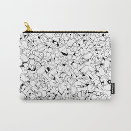 Chess Pattern WHITE Carry-All Pouch