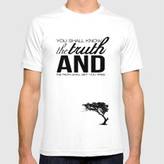 Truth SMALL White Mens Fitted Tee
