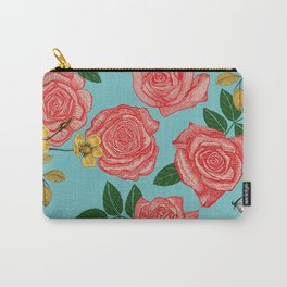 pretty pink roses Carry-All Pouch