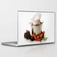 cooking Laptop & iPad Skins featuring Cute Cooking Chef by Neo Store
