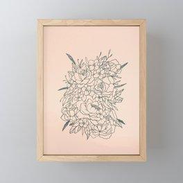 Bouquet series Framed Mini Art Print