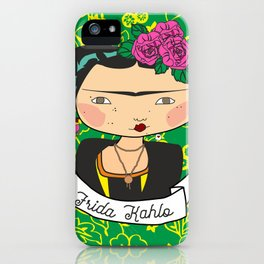 frida kahlo by iso iPhone Case