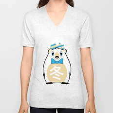 Fuyu - Season bear Winter Unisex V-Neck