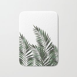 Palm Leaves Green Bath Mat