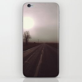 Highway in the fog iPhone Skin