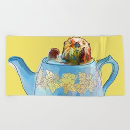 Otter Teapot Beach Towel
