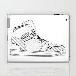sneaker illustration pop art drawing - black and white graphic Laptop & iPad Skin