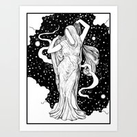 ghost Art Prints featuring Ghost by Corinne Elyse