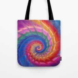 Spring into action with colour spirals Tote Bag