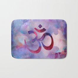 Om Symbol Watercolor Purples Bath Mat