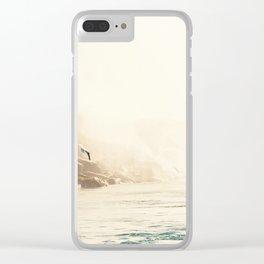 Seagull in Flight Clear iPhone Case