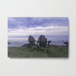 Sunset for Two, Mendocino Metal Print