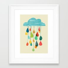 cloudy with a chance of rainbow Framed Art Print