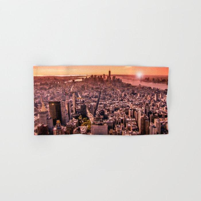 Manhattan in red Hand & Bath Towel