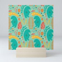 Bear pattern 001 Mini Art Print