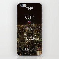 New York, New York. iPhone & iPod Skin
