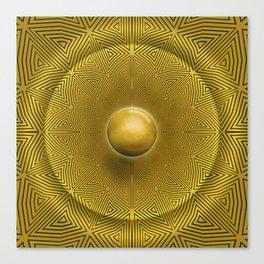 Golden Sunrise Pattern Canvas Print