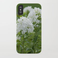 white flowers iPhone X Slim Case