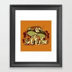 STONED IN WONDERLAND [REMIX] Framed Art Print