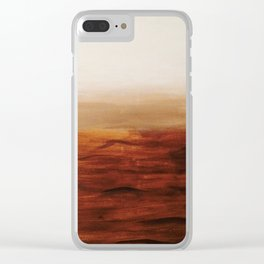 Desert Waves Clear iPhone Case