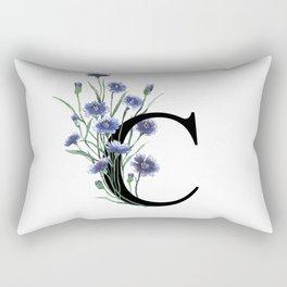 Letter 'C' Cornflower Rectangular Pillow