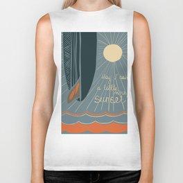 May I have a little more sunset? - illustration Biker Tank
