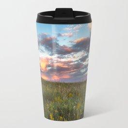 Prairie Fire - Fiery Sky at Sunset in Oklahoma Travel Mug
