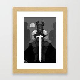 Chess Royalty: Black Rook Framed Art Print