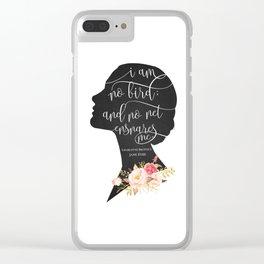 I am no Bird - Charlotte Bronte's Jane Eyre Clear iPhone Case