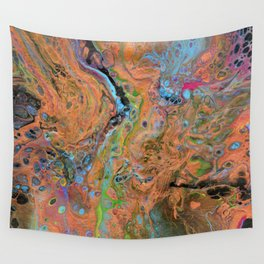 Fluid Copper - Abstract, original, fluid, acrylic painting Wall Tapestry