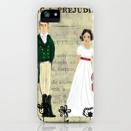 Mr.Darcy of Pemberley and Miss Bennet of Longbourn iPhone Case