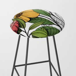 First summer blooms Bar Stool