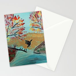 Autumn Duck Pond Stationery Cards