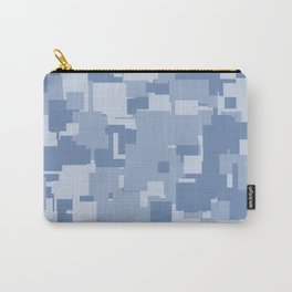 Light Blue Squares Carry-All Pouch