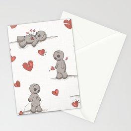 Broken hearted Voodoo Dolls Stationery Cards
