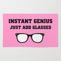 geek Area & Throw Rugs featuring Geek Glasses by BlackBlizzard