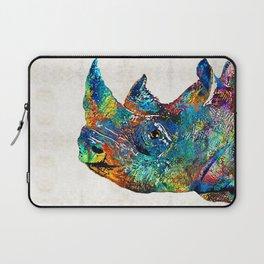 Rhino Rhinoceros Art - Looking Up - By Sharon Cummings Laptop Sleeve