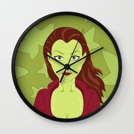 Poison Ivy Wall Clock