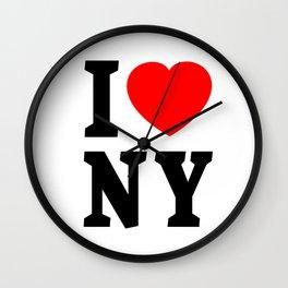 I love NY Wall Clock
