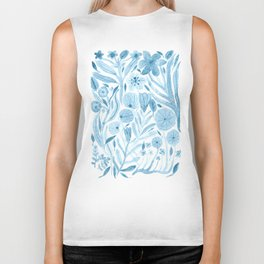Swept Away Wildflowers Biker Tank