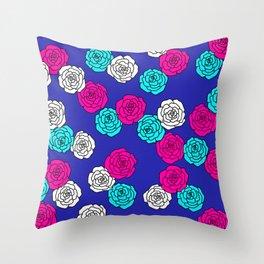 Pop Roses Pattern Throw Pillow