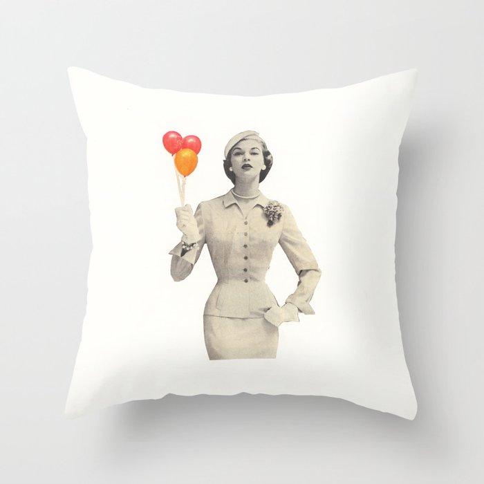 I am Woman Throw Pillow